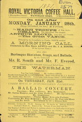 Advert for the Royal Victoria Coffee Hall 2579